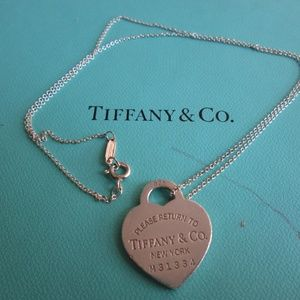 Tiffany and CO  Heart Necklace 8''